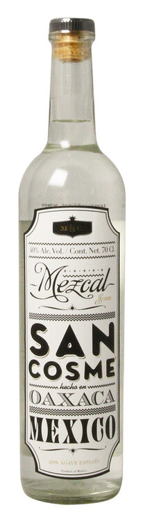 Tequila Mezcal Blanco 100 % Wild Agave San Cosme
